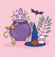 trick or treat happy halloween vector image