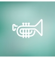 Trumpet thin line icon vector image vector image