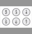 typewriter keys 234567 vector image vector image