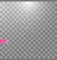 white transparent energy spotlight scene vector image vector image