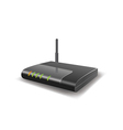 Wireless Router with the antenna vector image