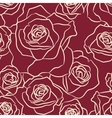 Rose Flowers Seamless Pattern vector image