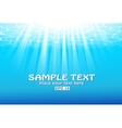 Blue underwater background with sunbeams vector image