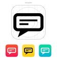 Send text message icon vector image