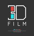 3D filme logo vector image vector image