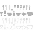 a set of cutlery vector image