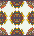 abstract background with ethnic ornament pattern vector image vector image