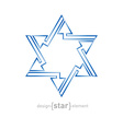 Abstract star of David with arrows on white vector image vector image