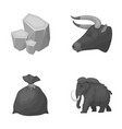 animal history and other monochrome icon in vector image vector image