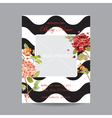 Baby Arrival Card with Photo Frame - Hortensia vector image vector image