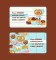 bakery or pastry shop business card vector image
