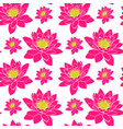 blooming pink water lily with yellow stamens vector image vector image