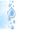 blue background with water drops vector image vector image