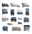Brush strokes set vector image vector image