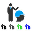 builder management flat icon vector image vector image