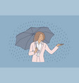 business weather safety water rain concept vector image