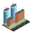 City Wireless Communication Isometric Composition vector image vector image