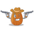 cowboy almond nut character cartoon vector image