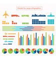 Details for cargo infographic vector image vector image