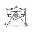 e-commerce email icon hand drawn icon set outline vector image vector image