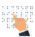 english braille alphabet vector image vector image