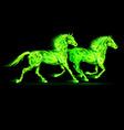 Fair Horse Run2 06 vector image vector image