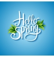 Fresh blue Hello Spring background vector image vector image
