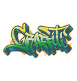 graffiti word in graffiti style text vector image vector image