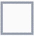 greek decorative frame for design vector image