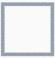 Greeke decorative frame for design vector image vector image