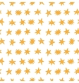 Hand Drawn Stars Modern Seamless Pattern vector image