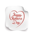 Happy Motherss Day background vector image