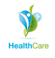 healthy people logo medical logo design concept vector image
