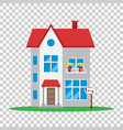 house in flat style on isolated background vector image vector image