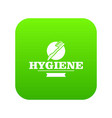 hygiene mouth icon green vector image vector image