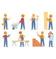 kids builders young engineers in uniform vector image