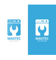 laundry logo combination washing vector image