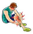leg ache vector image