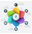 Modern business Infographics circle origami style vector image