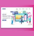 movie production website landing page vector image vector image
