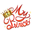 My princess with crown vector image