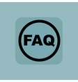 Pale blue FAQ sign vector image vector image