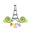 paris eiffel tower logo design vector image vector image