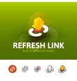 Refresh link icon in different style vector image vector image
