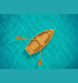 sea water and wooden boat vector image
