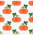 Seamless watercolor pattern with funny pumpkins on vector image