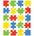 separate pieces of colorful puzzle vector image vector image