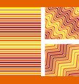 set abstract color background line pattern vector image