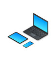 set isometric gadgets 3d laptop tablet vector image vector image
