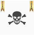 Skull and crossbones icon isolated vector image vector image